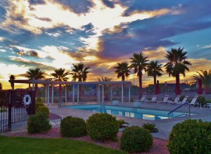 Clubhouse Pool at Sunset
