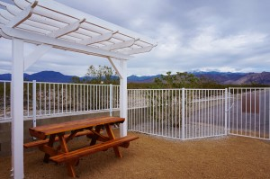 Bark Park Seating and Pergola