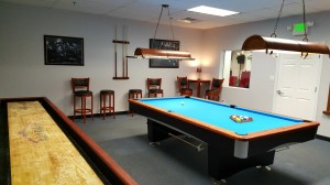 New Custom Billiards, Shuffleboard & Book Exchange